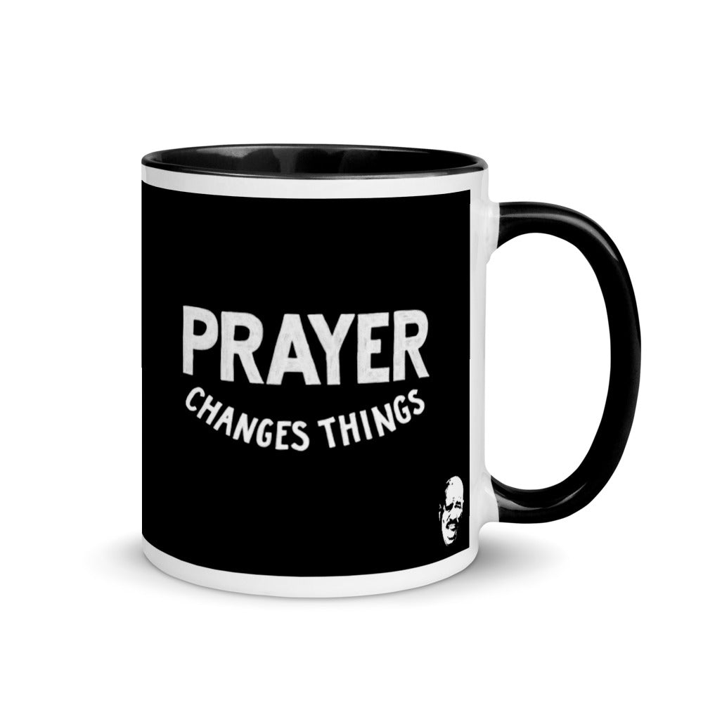Prayer Changes Things Steve Harvey Black Mug