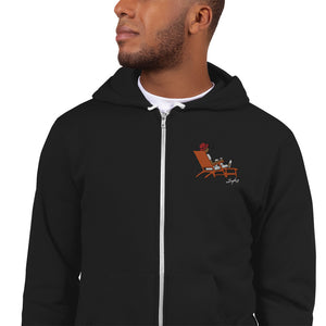Load image into Gallery viewer, Steve Loungin' Emoji Embroidered Hoodie Zip-up