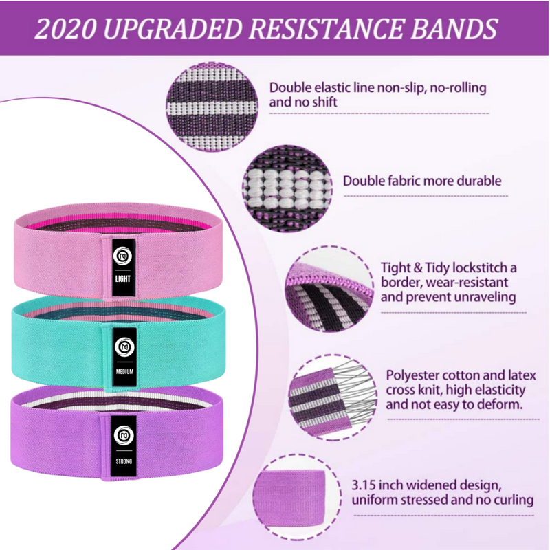 PWRFLEX™ Anti-Slip Hip Bands