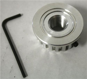 Aluminum Pulley - 20 XL Threaded - Out of stock until August 7th