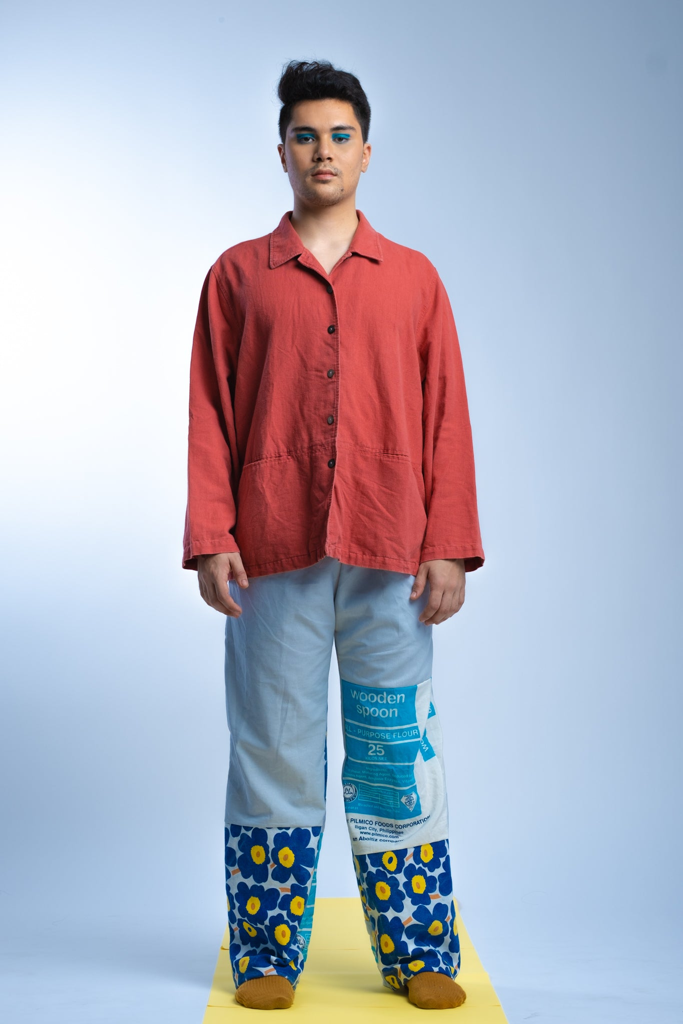 PANTS- Kurtina x Flour Power Retaso Combo (Blue)