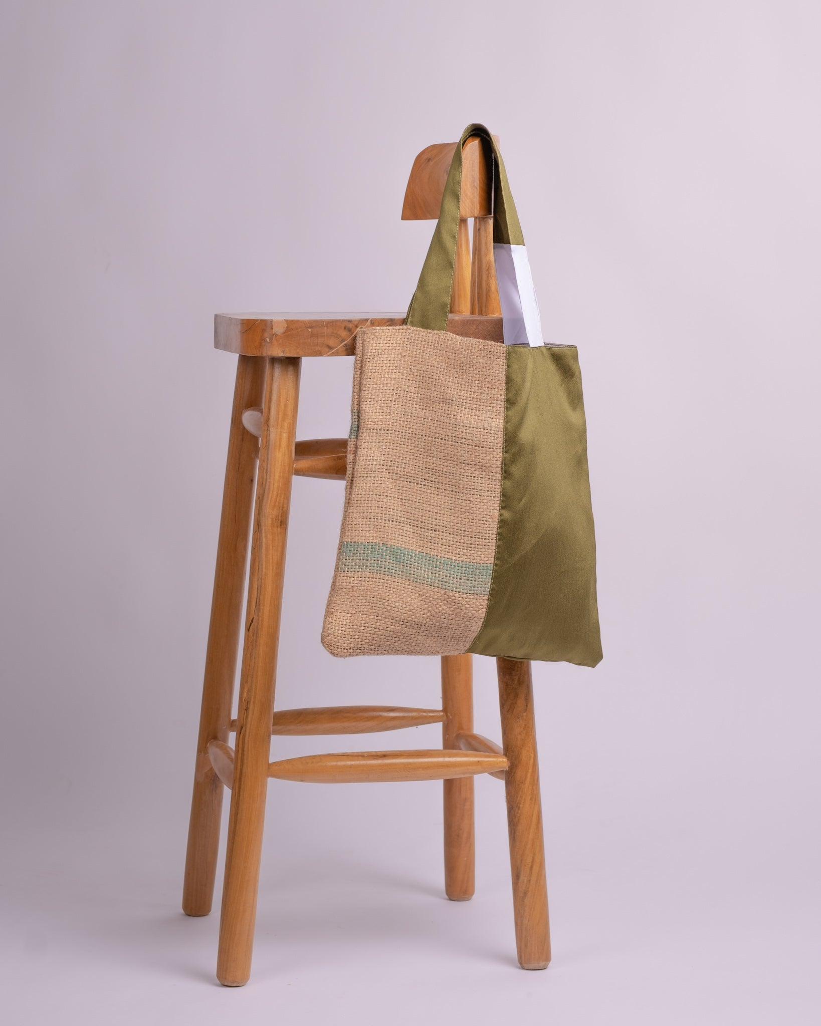 Olive Coffee Reversible Tote Bag