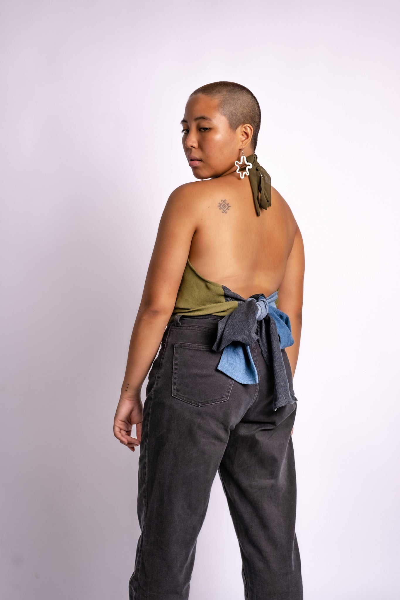 Olive + Denim Halter Top