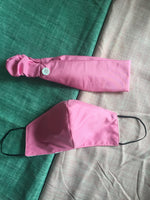 #RIOsable Mask + Headband Ear Saver Set - Pink (Kids)