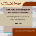 #RIOsable Mask - NEO in Mustard & Mint