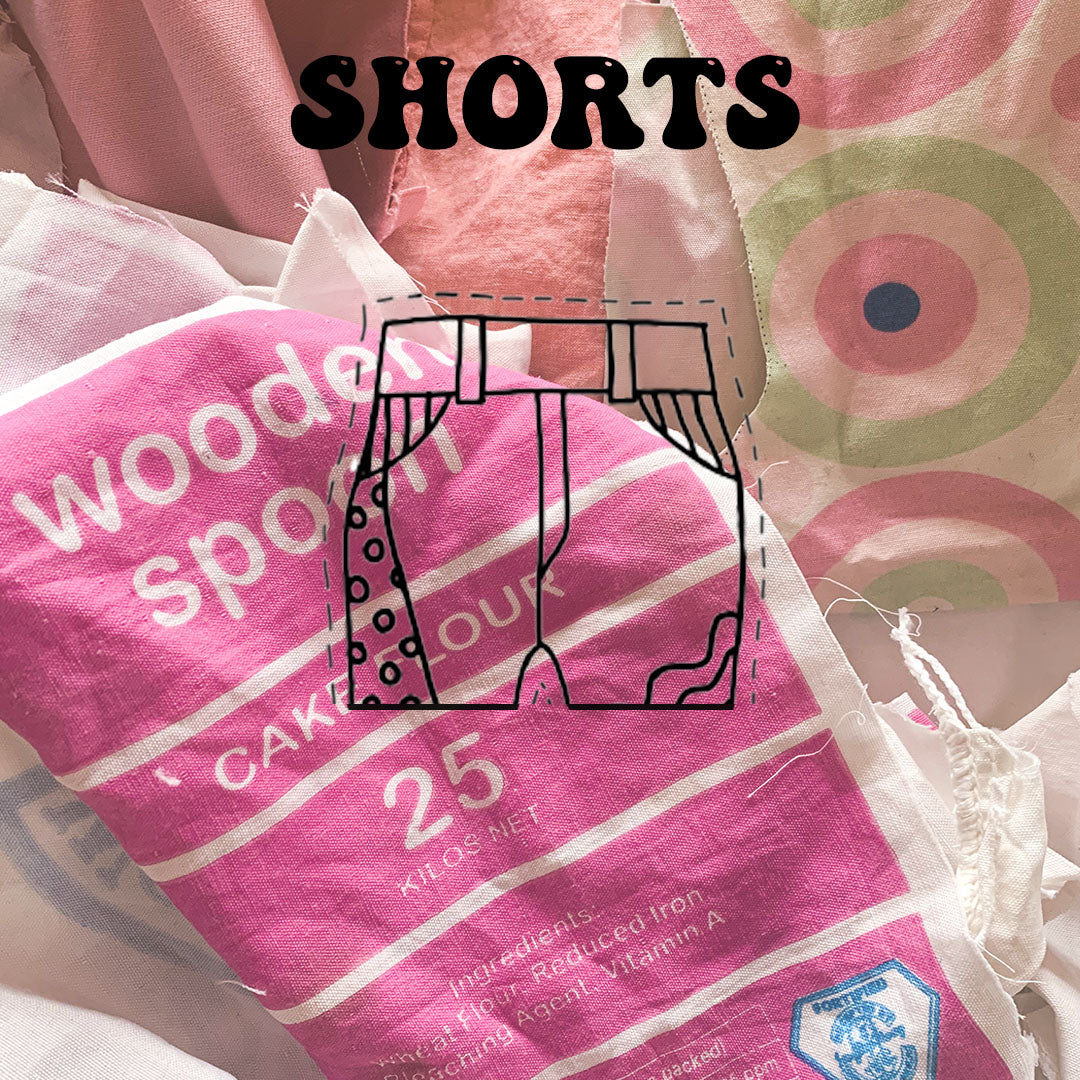 SHORTS - Kurtina x Flour Power Retaso Combo (Pink)