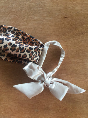 #RIOsable Mask - Ribbon Tie in Leopard