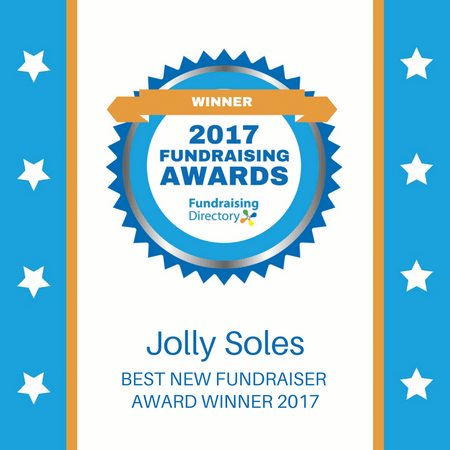 Jolly Soles Wins Best New Fundraising Awards 2017