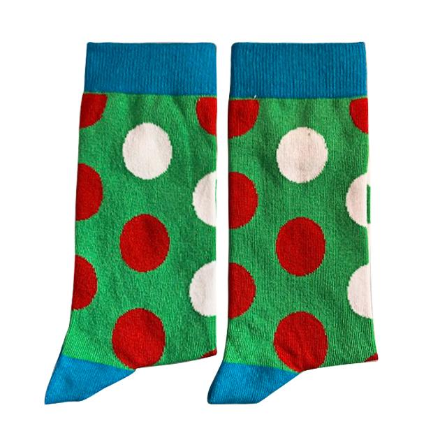 Green with coloured spots - Medium-Individuals-[fundraiser]-Jolly Soles