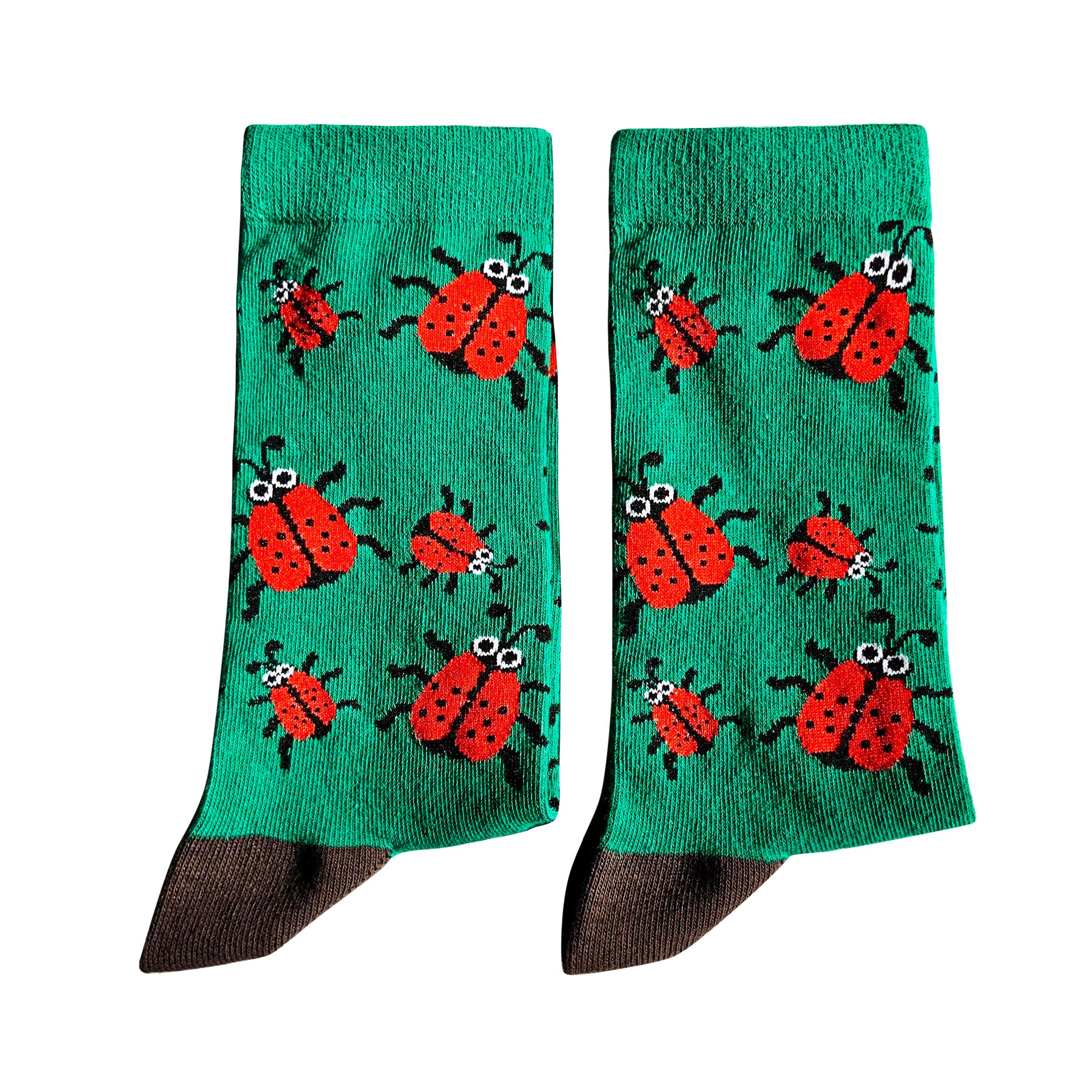 Jolly Soles Medium Crew Ladybird socks