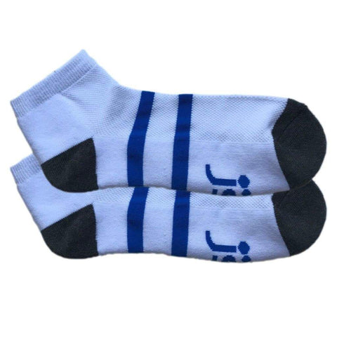 Large - White & Black Ankle Sports Sock