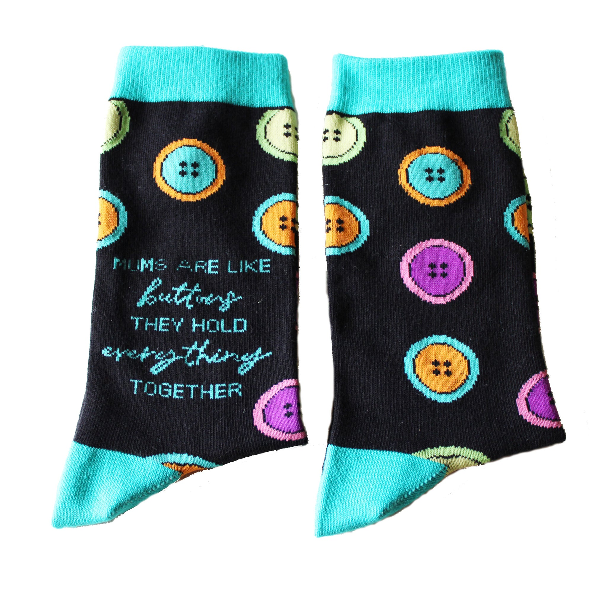 .Button Socks - Mother's Day
