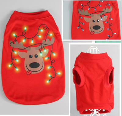 Reindeer Christmas Hoodie With L.E.D Lights