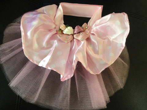 Pink Skirt with Pink Ribbon Flowers