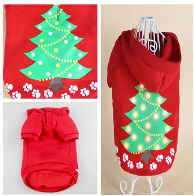 Christmas Tree Hoodie With L.E.D Lights