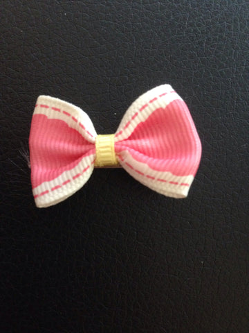 Hair Bow with White Border