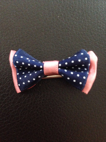 Blue And Pink Hair Bow
