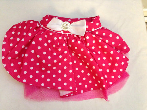 Pink Skirt with Satin and Ribbon Bow