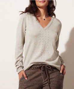 KILN knob hill v-neck sweater