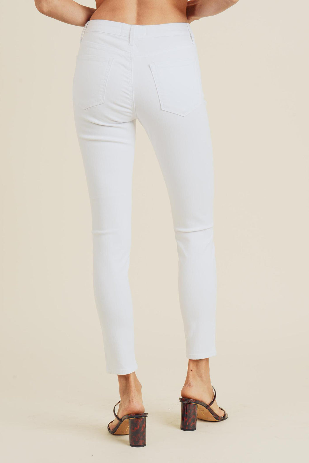 Just Black Ankle Skinny White