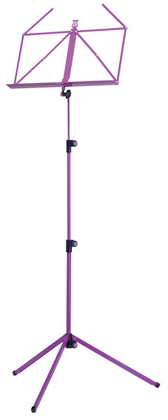 K M FOLDING MUSIC STAND PURPLE