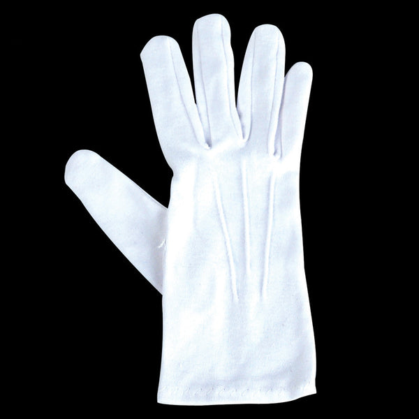 WHT COTTN GLOVES MED BX OF12PR