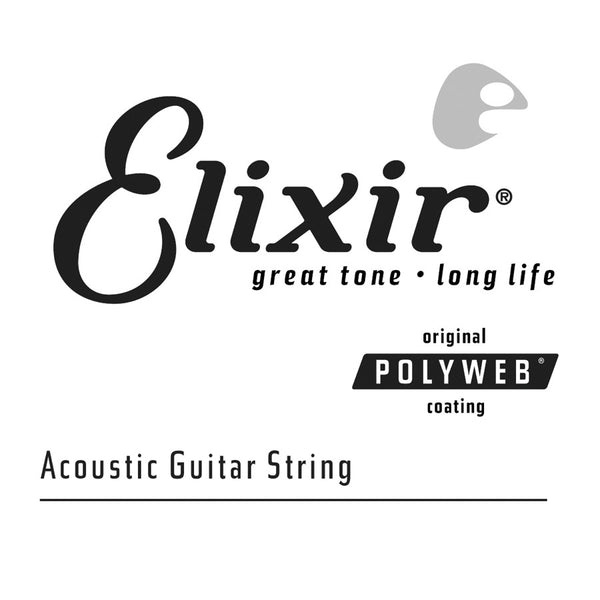 4pk Elixir 80/20 Poly .030    Single String