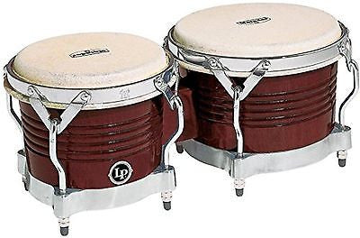 Latin Percussion M201-ABW LP Matador Wood Bongos - Almond Brown/Chrome