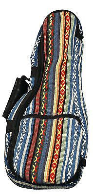 Eddy Finn Gig Bag Series EF-HUB-S Ukulele, Red/Blue/White