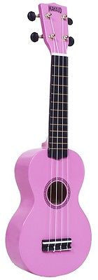 New! The Great Mahalo Rainbow Series Soprano Ukulele in Pink with Carrying Case