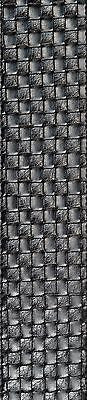 Planet Waves 25LWV-02 Small Basket Weave Leather Acoustic Guitar Strap - Black