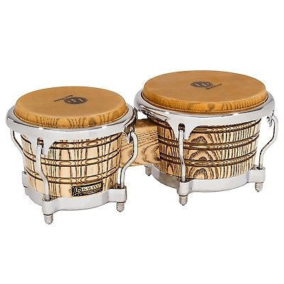 Latin Percussion LP Galaxy Giovanni Series Bongos - Natural/Chrome