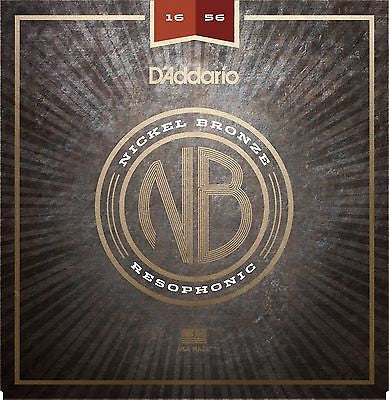 D'Addario NB1656 Nickel Bronze Acoustic Guitar Strings, Resophonic