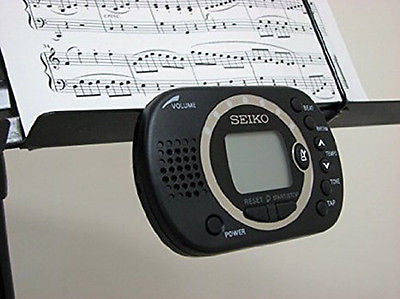 NEW! Seiko Multi-Function Digital Metronome with Tap Function & Earphone Jack