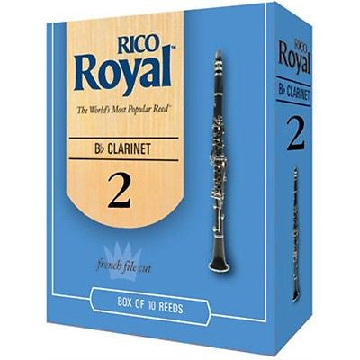 New Sealed RCB1025 Rico Royal - Bb Clarinet # 2 Box of 10 Reeds