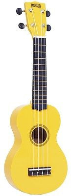 New! Mahalo Rainbow Series Soprano Ukulele Yellow Includes Carrying Case
