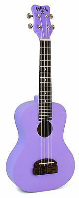 NEW Kohala KT-CPU Tiki Concert Ukulele - Satin Purple - Idol Engraved Bridge
