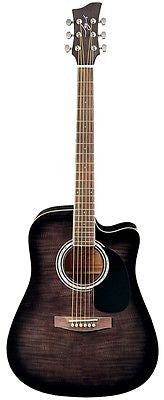 Jay Turser JJ-45FCET Series Acoustic/Electric Guitar, Black Sunburst
