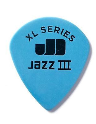 Dunlop 498R1.35 Tortex Jazz III XL, Black, 1.35mm, 72/Bag