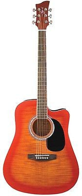 Jay Turser JJ-45FCET Series Acoustic/Electric Guitar Cherry Sunburst
