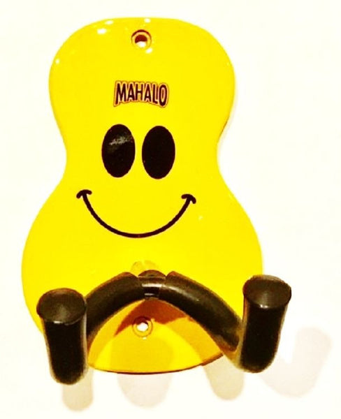 New! Mahalo Yellow U-Smile Smiley Face Uke Hanger Ukulele Wall Mount UH1