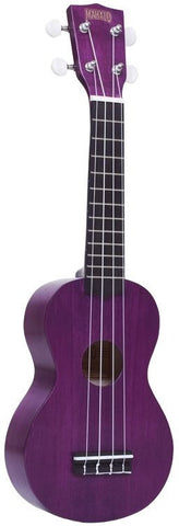 Mahalo Kahiko Plus Series Ukulele Trans Purple Vintage Machine Heads w/ Gig Bag