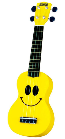 New! Awesome Mahalo U-Smile Soprano Ukulele Yellow Smile Uke