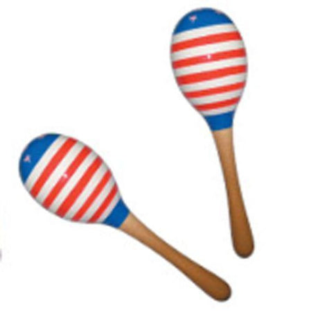 "New! CANNON® Patriotic 10"" US Flag Maracas - American Stars"