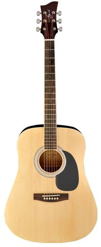 New! Jay Turser JJ-45 EQ Series Acoustic Electric Guitar Natural Abalone Rosette