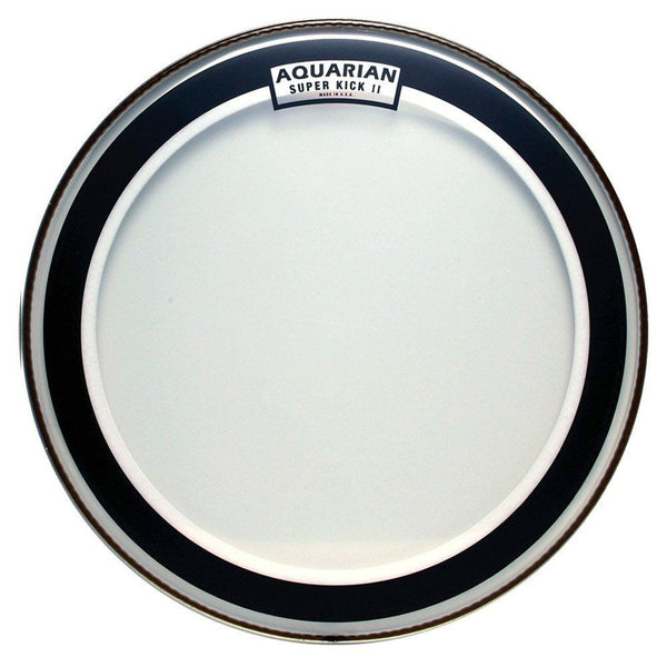 New! Aquarian Drumheads SKII22 Super-Kick II Double Ply 22-inch Bass Drum Head