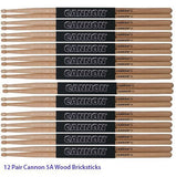 NEW! 12 Pairs First Quality Cannon 5A Nylon Tip Oak Drumsticks Shipped Fast