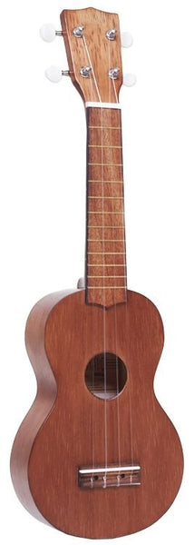 NEW! Mahalo Kahiko Series Soprano Ukulele - Awesome Transparent Brown Finish