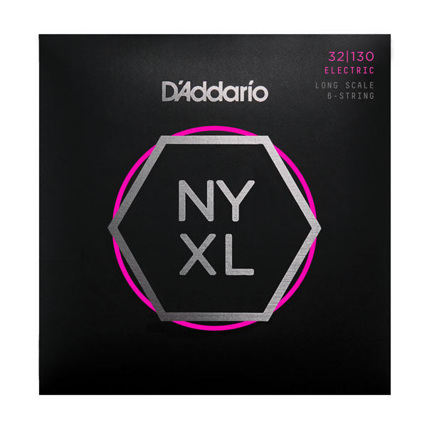 New! D'Addario NYXL 32-130 Electric Long Scale 6-String Bass Strings Best Tuning