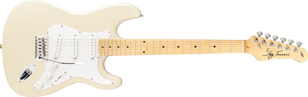 New! Jay Turser 300M Series Electric Guitar Ivory - Strat Style Tremelo Pickups